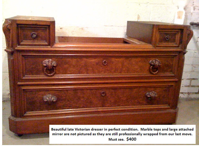 Victorian Marble Top Dresser - Bid in Online Auctions - Live
