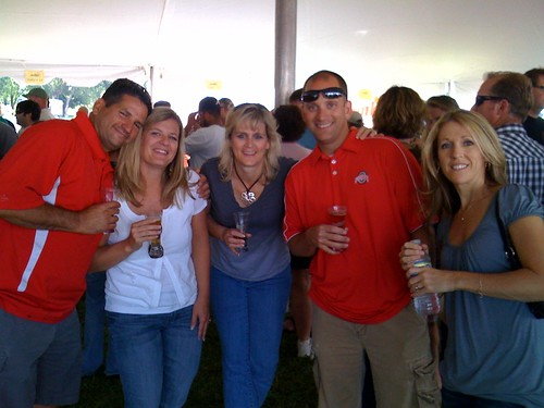 Enjoying AleFest...take note of the OSU fans. At least they are easy to spot in a crowd.