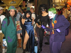 Riddler, Raven, Catwoman and Joker photo by Kelson