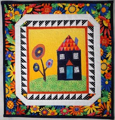 Happy House Mini Quilt photo by TerrieSandelin