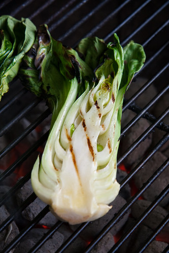 Grilled Baby Bok Choy