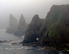 Stacks of Duncansby in fog photo by joeri-c