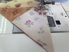 step 2b- sew the small triangle