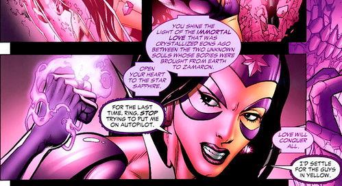 Carol Ferris in control of ring now