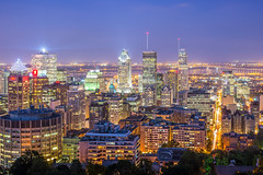 bright Montreal night photo by tuanland