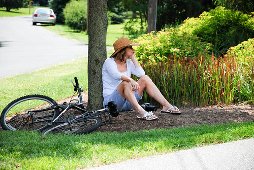 WASP Fashion: Straw Hat and Bicycle