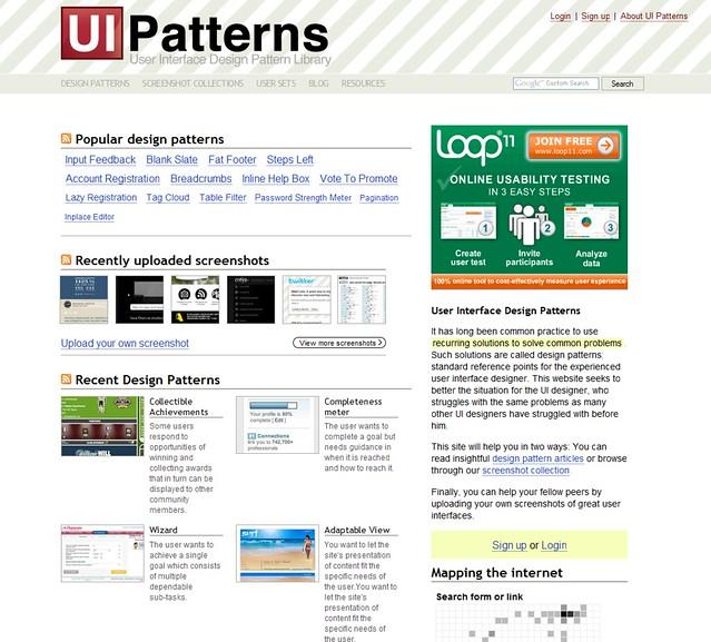 15 UI Design Patterns Web Designers Should Keep Handy