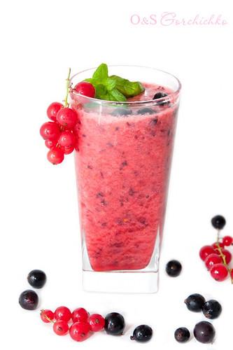 Смузи из красной и черной смородины | Red and black currants smoothie