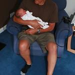 Grandpa has a cuddle<br/>26 Jul 2009