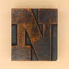 wood type letter N