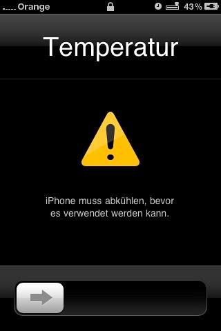 Wenn das iPhone heiss hat!