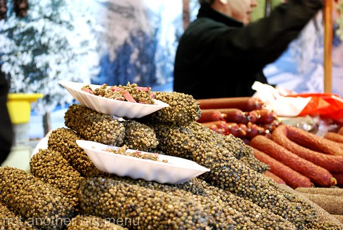 Manchester Christmas market - sausage stall  7