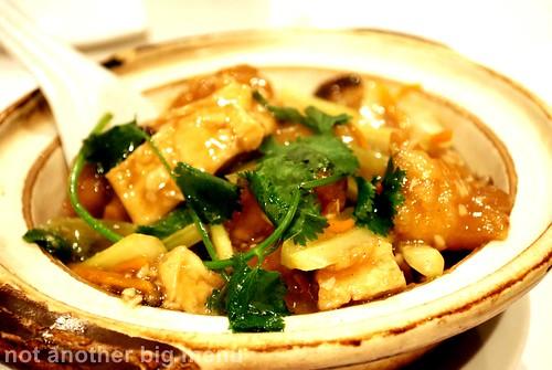 Peninsula Restaurant - Braised beancurd and fillet fish hotpot £10