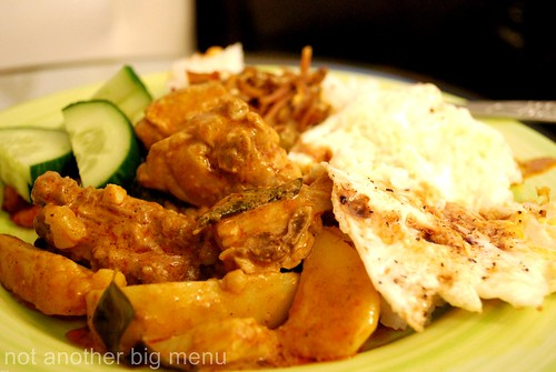 Home cooking - curry chicken with wantan noodles