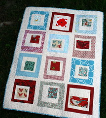 Red & Aqua Quilt photo by alissahcarlton