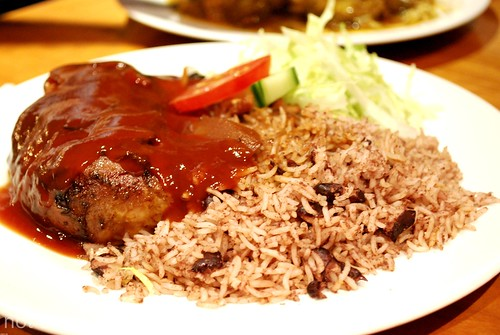 Jerk City - Jerk chicken with rice and peas £7.50