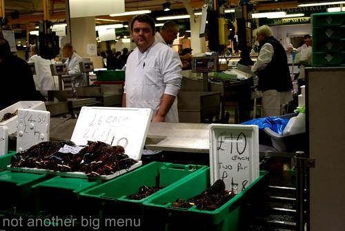 Billlingsgate fish market - fishmonger