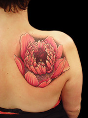Anemone flower tattoo photo by Miguel Angel tattoo