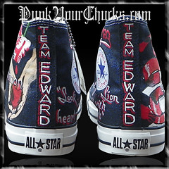 Twilight Saga Converse with Glitter Design #1 Hand Painted Chuck Taylors photo by punkyourchucks