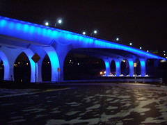 35W Bridge over Mississippi River at Night