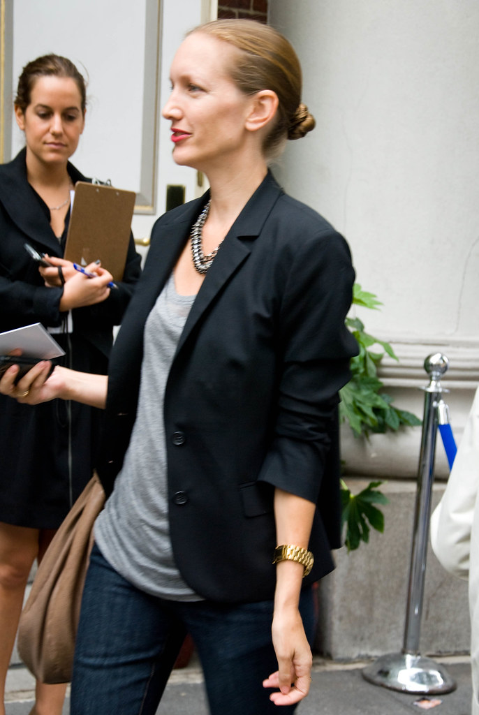 Ponytail, Blazer, and Red Lips, Oscar de la Renta Show