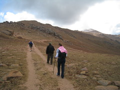 Our group enjoys the gentle terrain