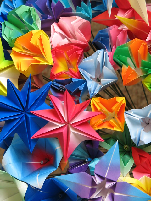 ORIGAMI DIAGRAM FLOWERS