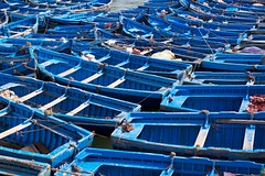 Fishing boats in Essaouira harbour photo by Adam Fowler