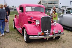 36 Pink Chevy Truck photo by plateguy