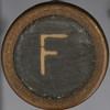 typewriter key letter F