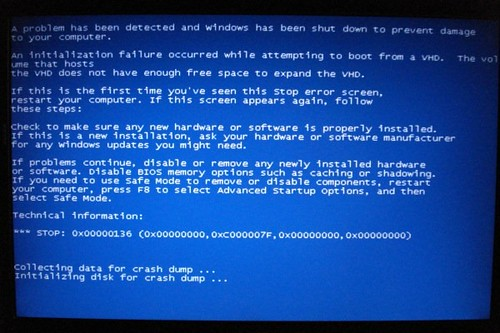 BSOD - Windows 7 Boot From VHD