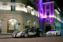 Bugatti Veyron and SL 65 Black Series photo by Tex Mex (alexandre-besancon.com)