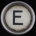 typewriter key letter E
