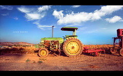 Tractor in Suburbia photo by isayx3