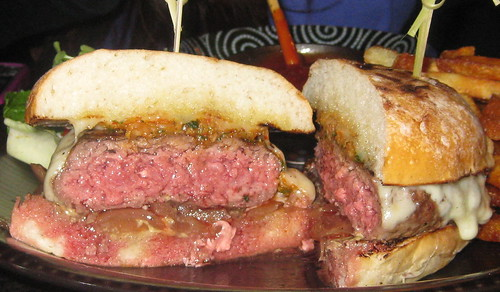 Namu in San Francisco - Niman beef burger with kimchee relish