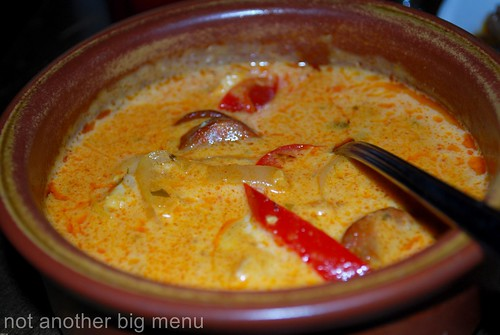 La Tasca - Pollo Marbella £4.75 (Chicken, cooked with paprika, chorizo, sweet peppers, onion and a white wine & cream sauce)