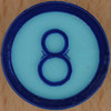 Colour Bingo blue number 8