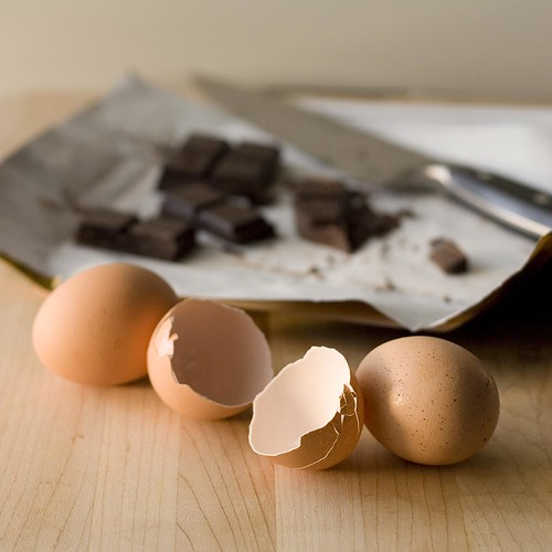 Eggs and chocolate