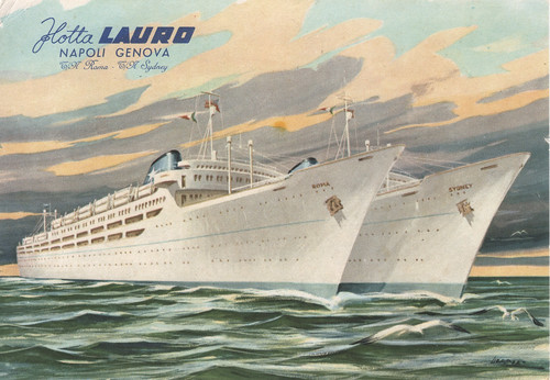 Flotta Lauro Post card