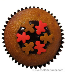 Gingerbread Boys & Chocolate truffle cupcake photo by The Lone Baker