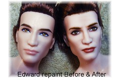 Edward before & after repaint photo by Fantasy Dolls by Donna Anne