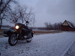 commuting on the ural in the snow 2009-12-04