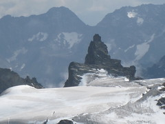 NO..... This is Not Man Made God.....Natural rock formation...at Top of Alps....(See the Far Away View of this image also here) photo by Sunciti _ Sundaram's Images + Messages