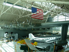 "The ""Spruce Goose"" dwarfs everything else in the museum."