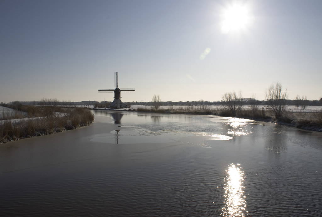 Winter at Kinderdijk
