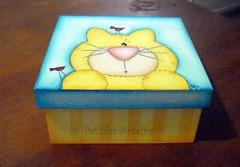 Caixa gatinho amarelinho photo by Patinha Arteira