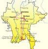 mapa de yangon