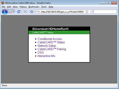 SiliconDust HDHR CableCard Screenshot
