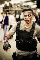 Zombie attack at Wondercon '10 photo by tofuguns