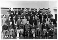 1965-66 Lycée Antoine Charial LYON, 1ère M3 - Professeur : M. REYGROBELLET photo by Bernard CHALAVOUX